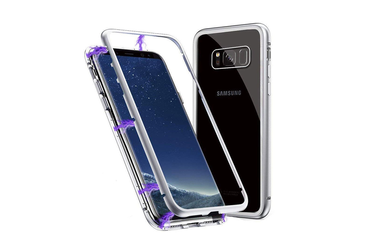LUPHIE Case For Samsung Clear Glass Case Cover