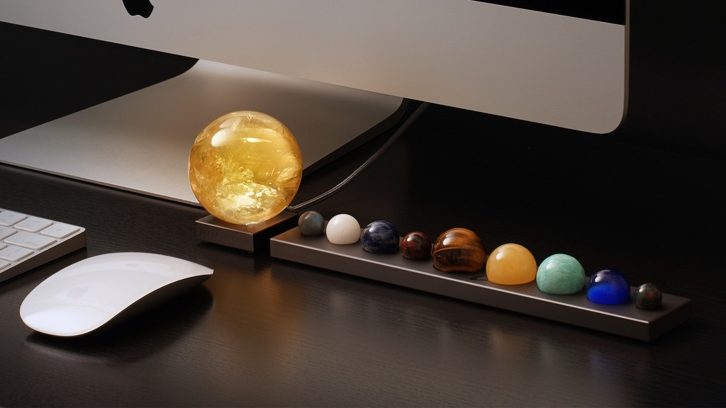DeskSpace Handcrafted Solar Sun and Planets