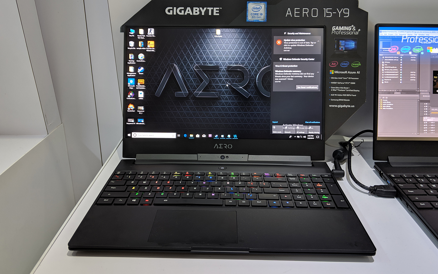 Gigabyte Aero 15 Y9 gaming laptop