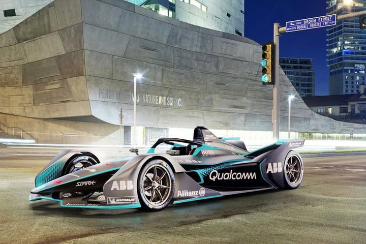 Formula E Electric Racecar